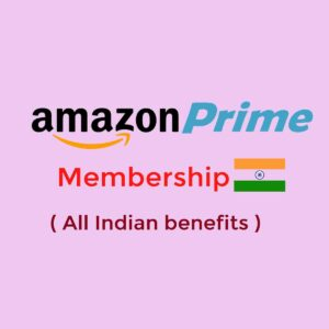 Amazon Prime Membership 1 Year ( Indian )